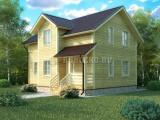 Проект дома из бруса №1 (8х10)