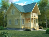 Проект дома из бруса №4 (8х8)