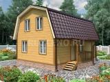 Проект дома из бруса №11 (6Х8)
