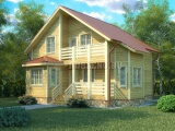 Проект дома из бруса №3 (10,7х10)