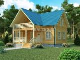 Проект дома из бруса №7 (12Х9)