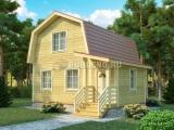 Проект дома из бруса №9 (8Х7,5)