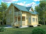 Проект дома из бруса №2 (10х9)