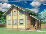 Проект дома из бруса №12 (7,6Х7,6)