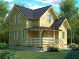 Проект дома из бруса №5 (8х8)